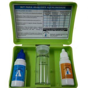Kit de testes para alcalinidade da piscina