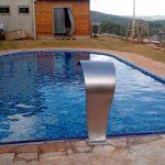 Entrega de piscina com sauna integrada no Condomínio Gran Royalle