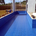 Construção da piscina do clube no Condomínio Gran Royalle em Lagoa Santa