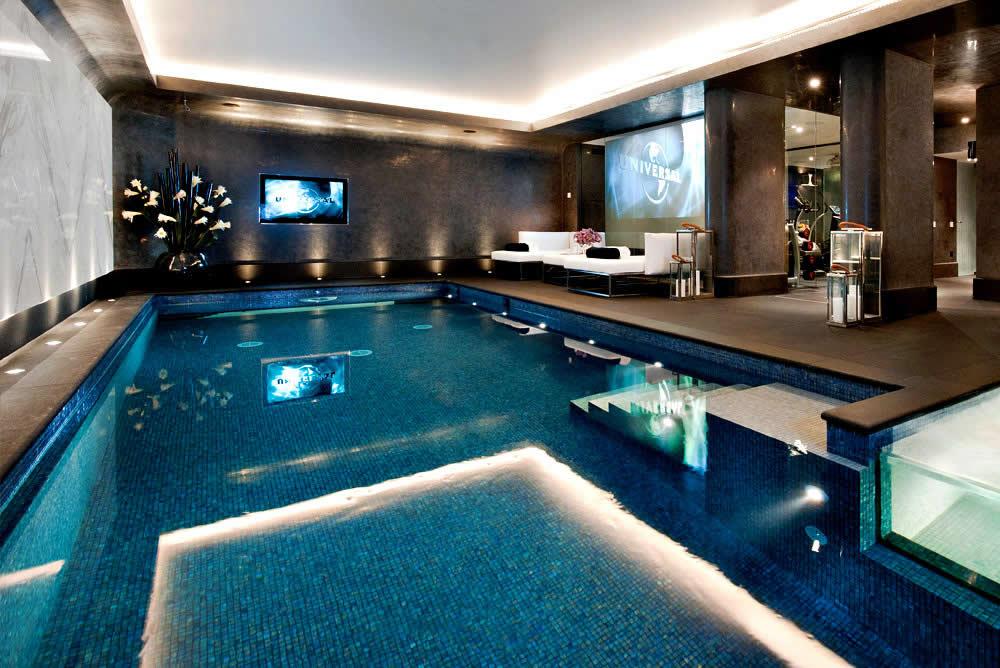A piscina dentro de casa brasil piscinas for Piscinas dentro de casa