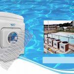 Instalar o trocador de calor para aquecer bem a piscina