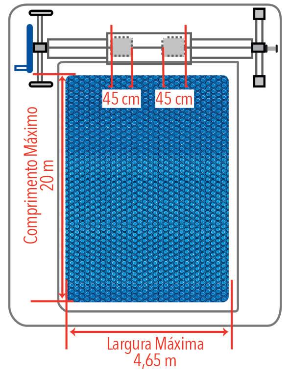 Medidas do enrolador de capa térmica