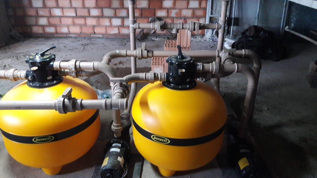 Instalação de equipamentos e casa de máquinas para Construtora MARKA