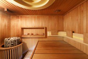 Cômodo da sauna seca