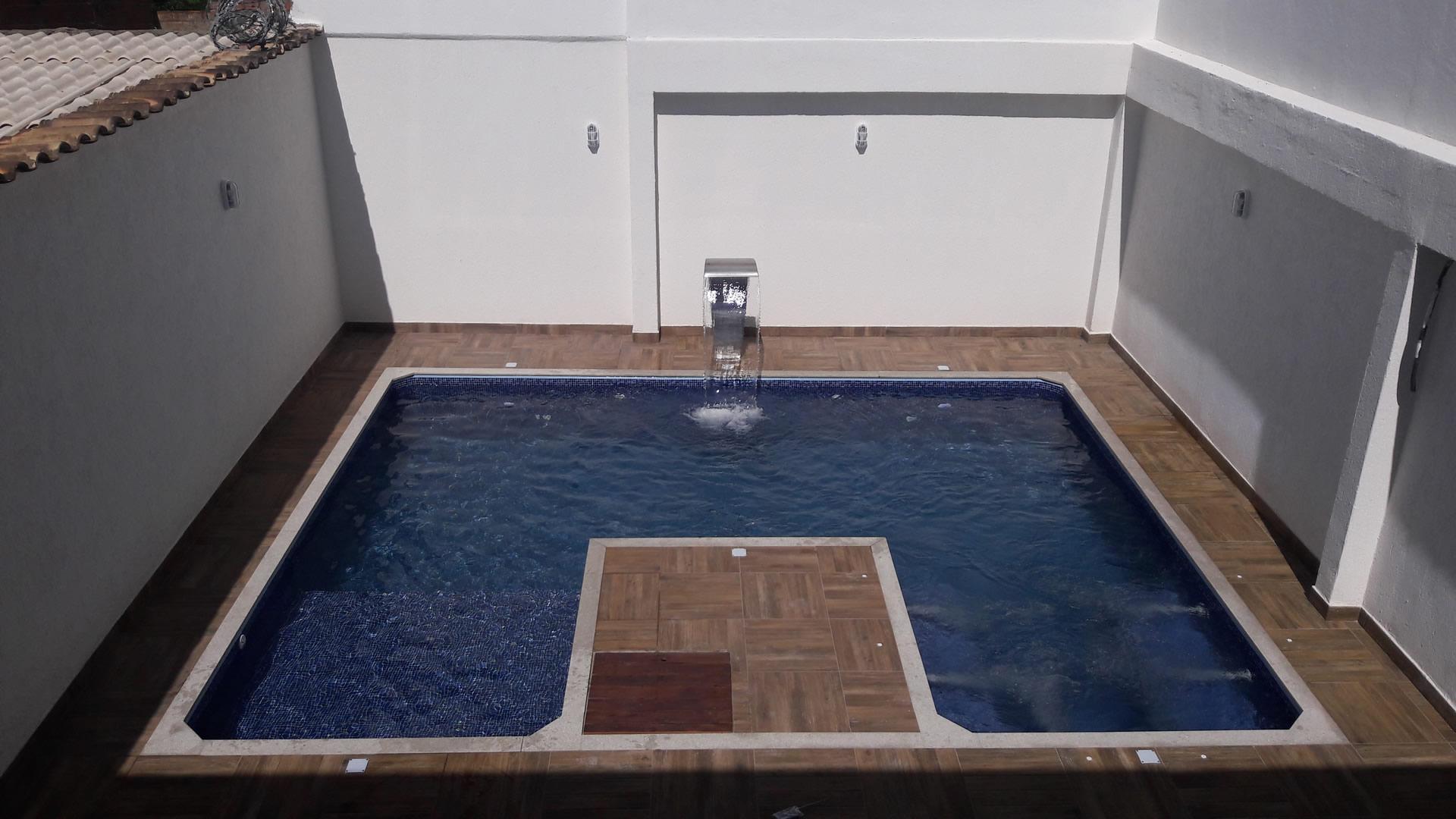 Construção da piscina do Anderson – Enseada das Garças