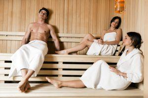 Instalação da sauna seca a gás