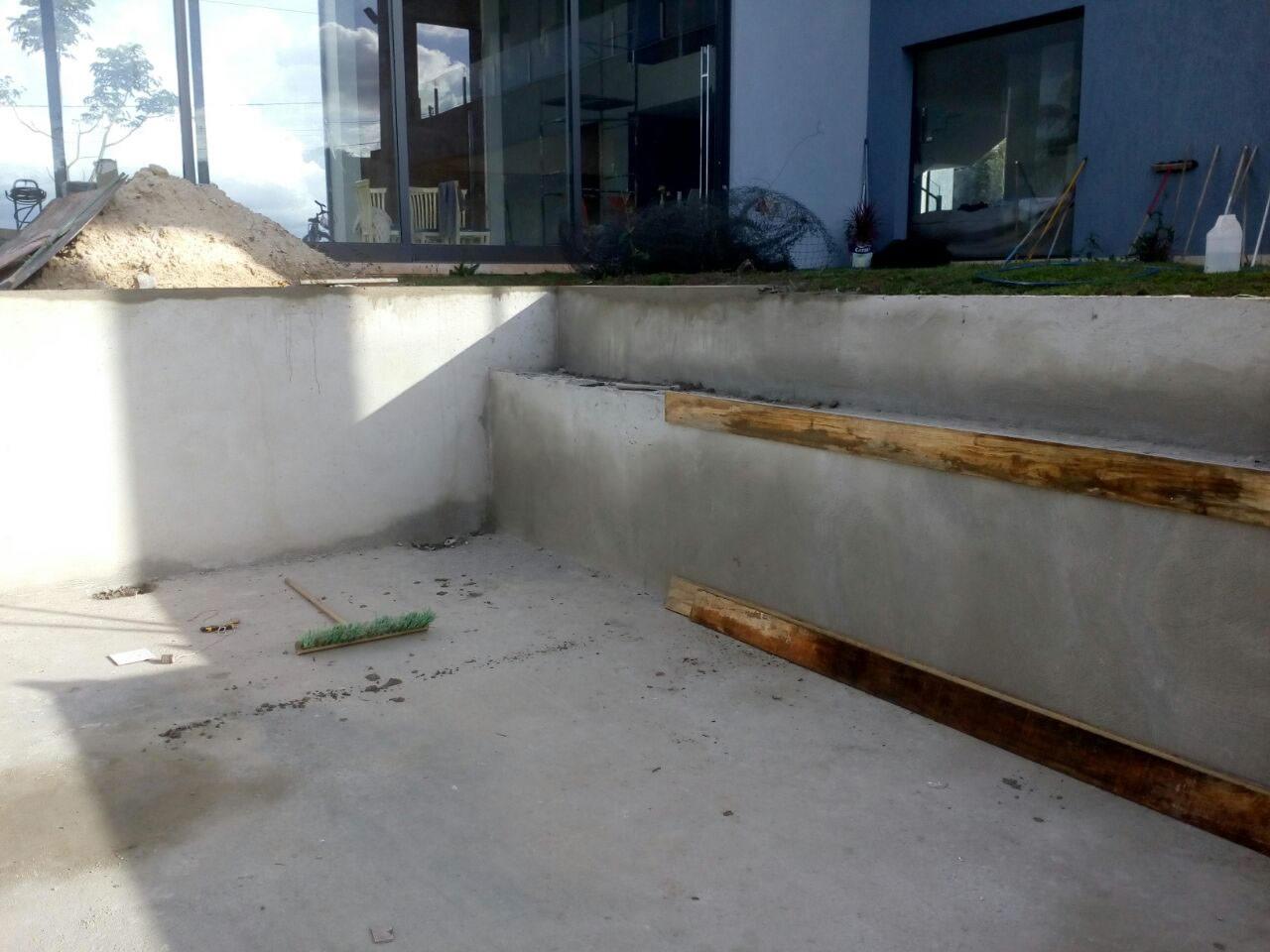 Piscina de alvenaria do Lincon - Condomínio Villa Bella
