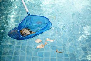 Peneiração da piscina