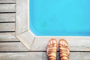A piscina ocupa muito espaço?