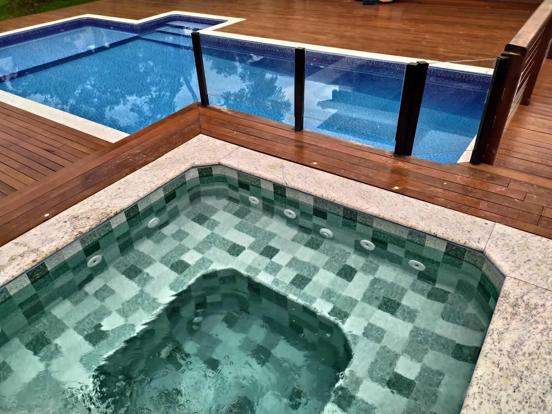 Construção da piscina de vinil do José Geraldo – Cond. Serra Morena
