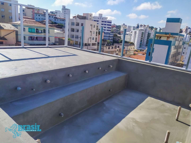 Construção do spa do Carlos