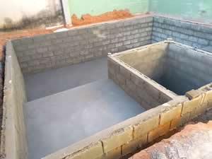 Impermeabilização da piscina