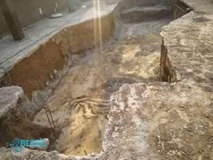 Local da escavação da piscina