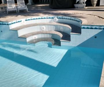 Substituição dos refletores da piscina do Wille