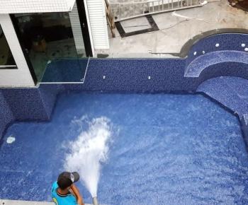 Construção de piscina e sauna do Leonardo - Santa Amélia