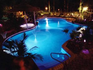 Iluminação da piscina